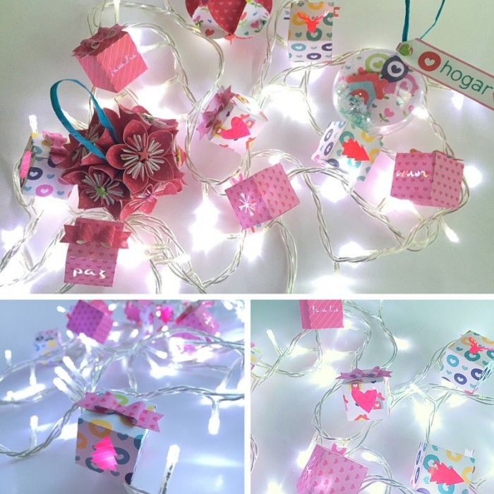 288 best images about ideas y tutoriales scrap on - Decoracion luces navidad ...