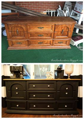 old dresser to stylish coffee bar