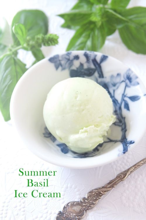 Summer Basil Ice Cream - Scoop Adventures