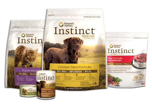Instinct   Nature's Variety. Good choice for pets with allergies. A grain free dog food. I know first hand this works, made my dogs coat silky and alleviated itching--Love you Roxy!