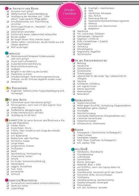 Packliste für den Urlaub – Neuauflage der Checkliste