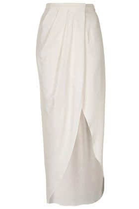 Wrap Maxi Skirt By Boutique- love the draped grecian silk look #TopshopPromQueen