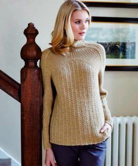 Пуловер со жгутами и рукавом погон