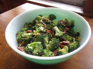 Pie Birds, Buttons and Muddy Puddles: Broccoli Bacon Raisin Salad