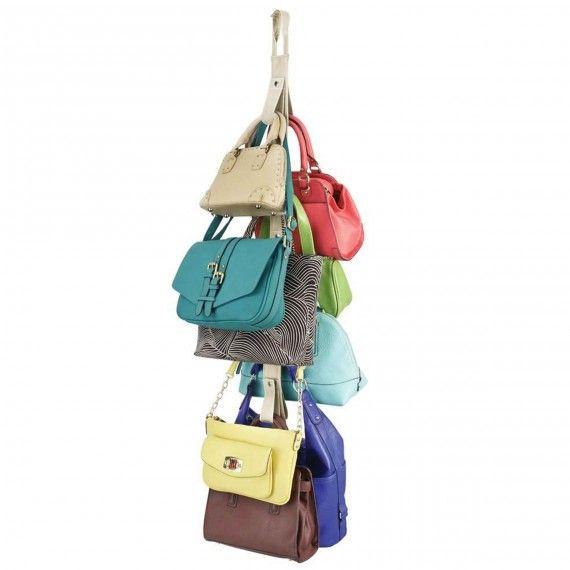 Rangement pour 10 sacs à main à suspendre