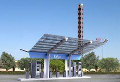 1st Non-Tesla High-Power EV Charging Station In USA!! Thanks, EVgo