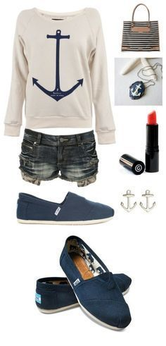 Anchor sweater and toms <3 LOVE love LOVE