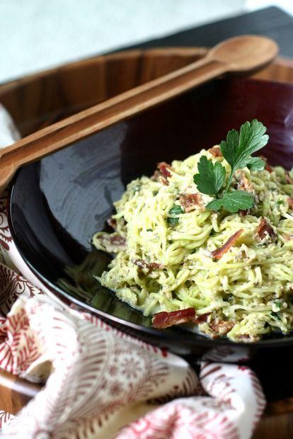Paleo Spaghetti Carbonara {from Beyond Bacon} cooked with #Lard http://www.everydaymaven.com/2013/paleo-spaghetti-carbonara/