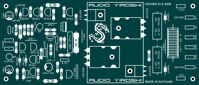 Crown Xls 5000 Audio Yiroshi Pcb Audio Amplifier Circuit Diagram Circuit Board Design