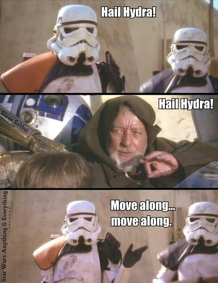 30e244ecbeba9b944617ee8b707b28f6 star wars meme hail hydra 210 best hail hydra!! images on pinterest comics, hail hydra