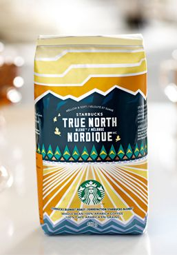 A COFFEE NAMED BY CANADIANS FOR CANADIANS We invited Canadians to submit a new name for their favourite Blonde Roast coffee and you chose Starbucks® True North Blend™, a delightfully mellow blend. True North reflects the stunning geography, the vast landscape and the pride and spirit of Canada. We are honoured to be able to share and connect over our love of coffee.