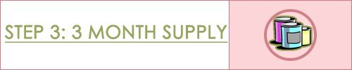 Step 3: Three Month Food Supply | Food Storage Made Easy - free excel sheet to help you shop for the right quanitites of food :)