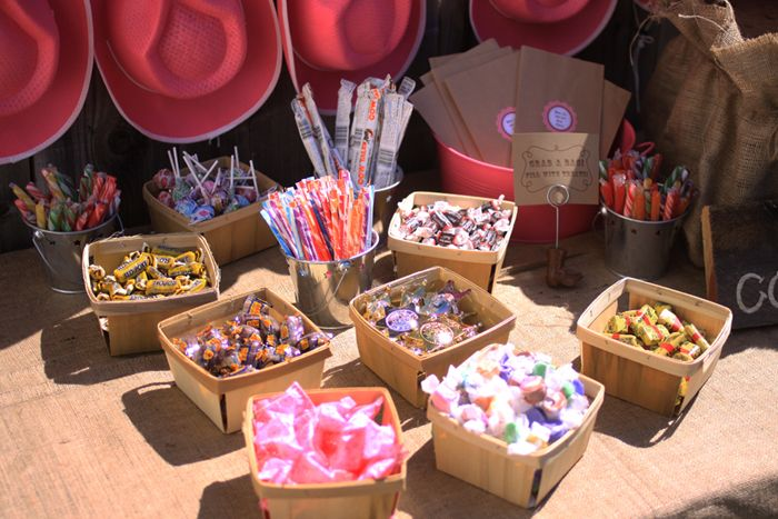 country theme b-day party , the kids can make their own goodie bags