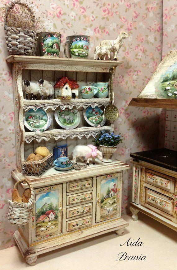 Kitchen Cupboard Sheep 1 12 Dollhouse Furniture Hobby Lobby