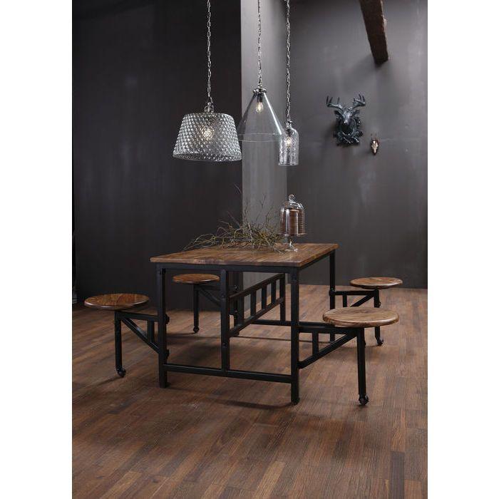 Mesa+Taburete Space (5 piezas) - KARE Design