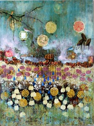 Love Mandy Emerson's work (NZ Artist, mixed media)