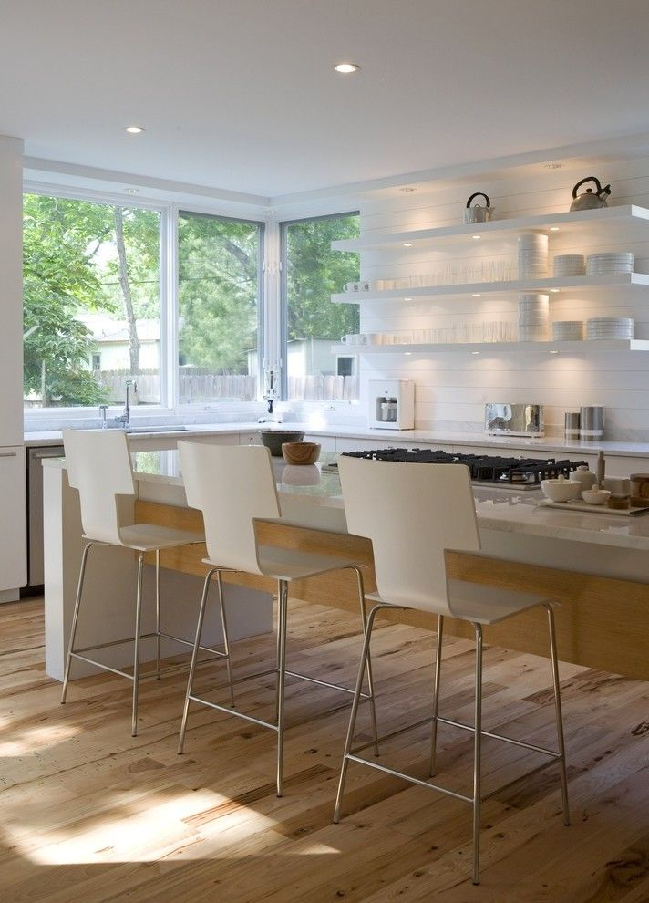 Built in Toaster Kitchen Transitional with Grey Cabinets Modern Outdoor Clocks