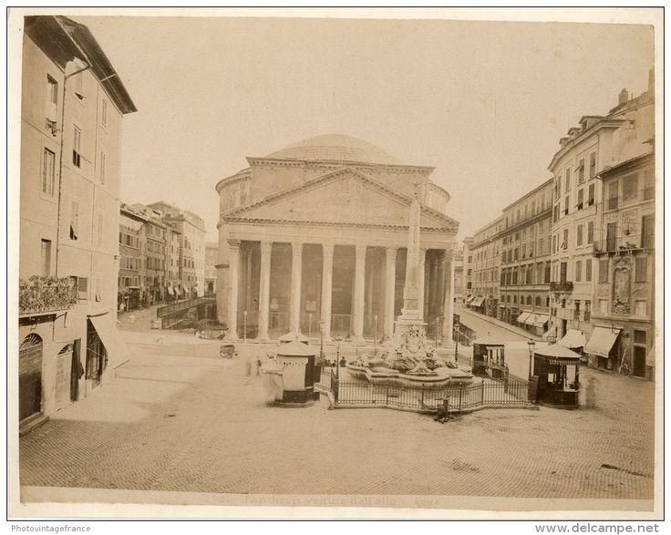 Pantheon veduto dall'alto Circa 1880