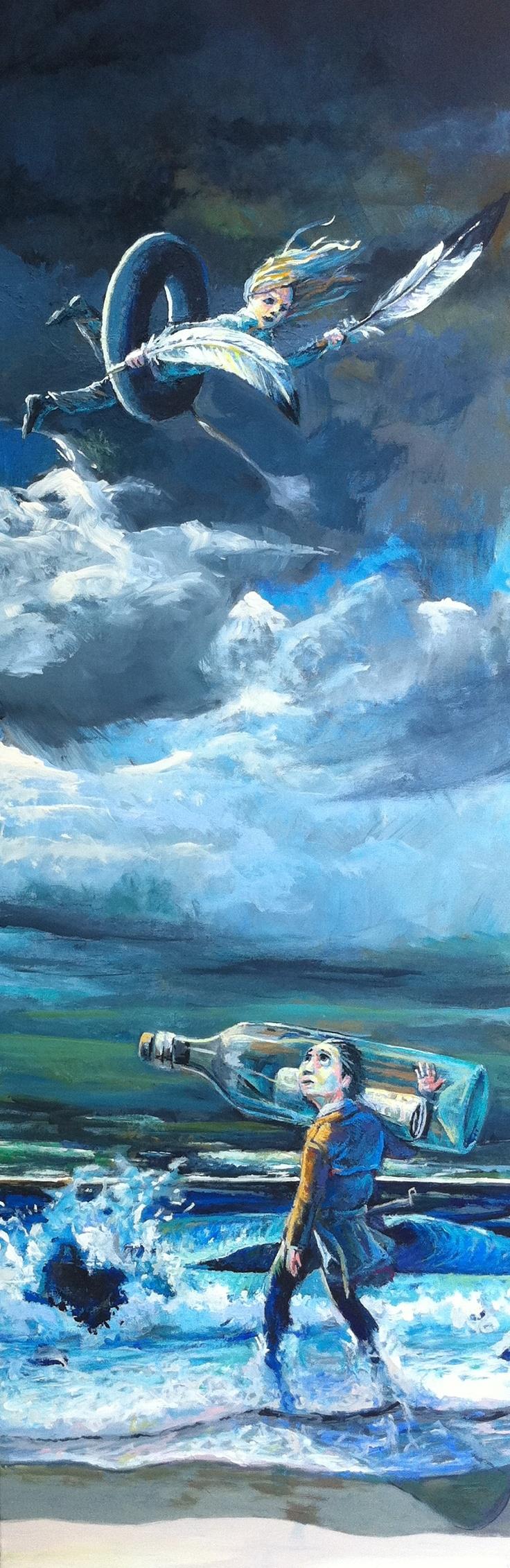Os naufragos  150x 50 cm, Acrylic / Canvas, 2011