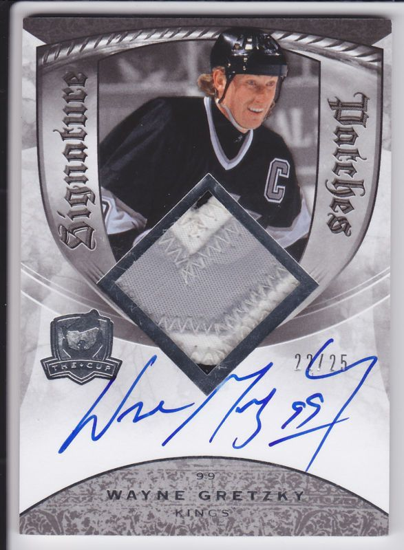 2008-09 The Cup Wayne Gretzky Patch Auto Autograph Signature Patches 22/25 RARE