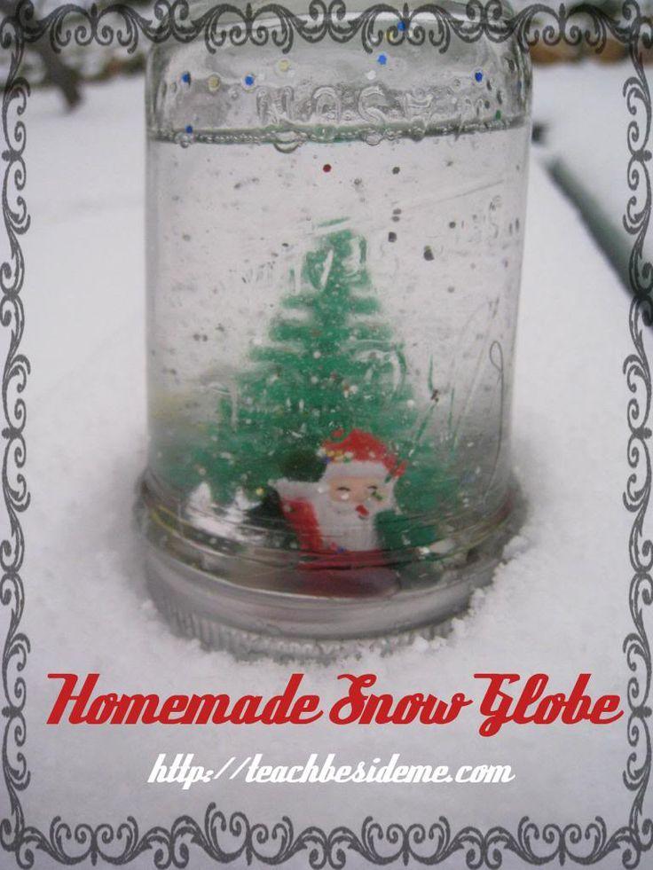 Homemade christmas snow globe homemade we and homemade for Easy homemade christmas snow globes
