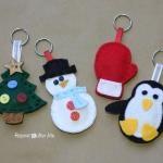 Winter Friends Felt Keychains