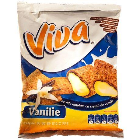 Pernite umplute cu crema de vanilie 200g Viva