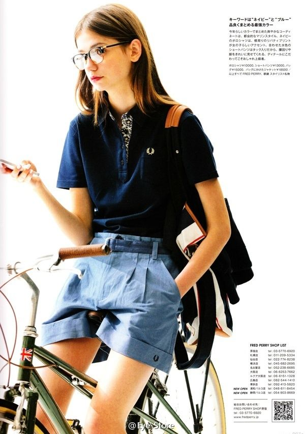 Fred Perry & Burberry blue lable 2014 S/S , Fudge 2014.6 issue