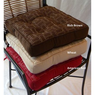 Niko Box Welted Twill Chair Pads With Attachment Ties (Set Of 4)