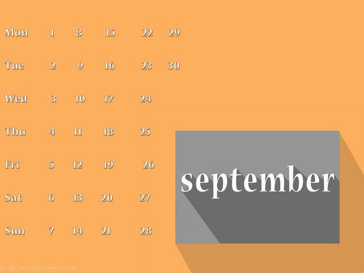 Hello September 2014 (Calendar) by Balazs Csibi