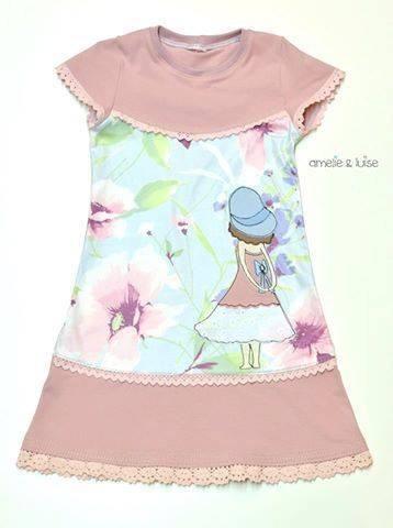 """eBook - Kleid """"Zuckerschnecke"""" - Jerseykleid - Drehkleid - Rüschenkleid - Rüschen - Kinder - Mädchen - Nähen - Herzensbunt Design - Glückpunkt."""