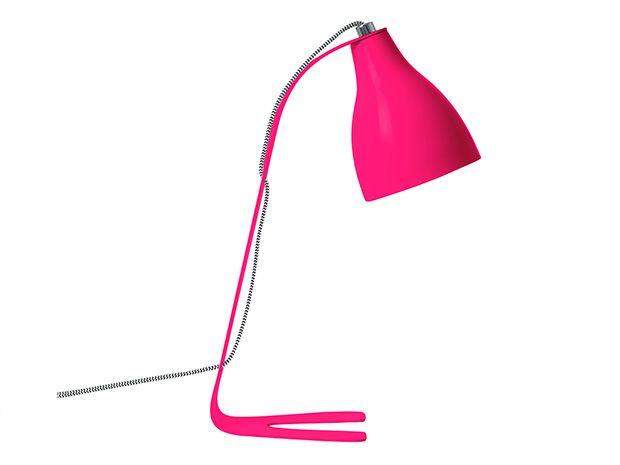 Lampka na biurko Barefoot neonowy różowy Leitmotiv