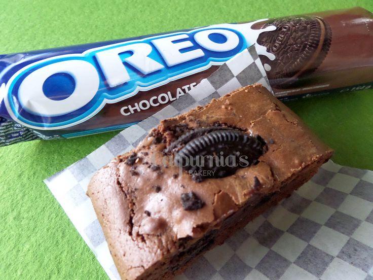 Brownie con oreo de chocolate