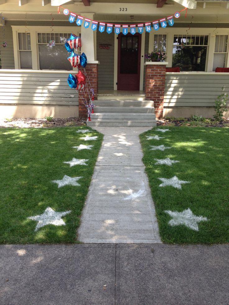 Captain America birthday party decorations