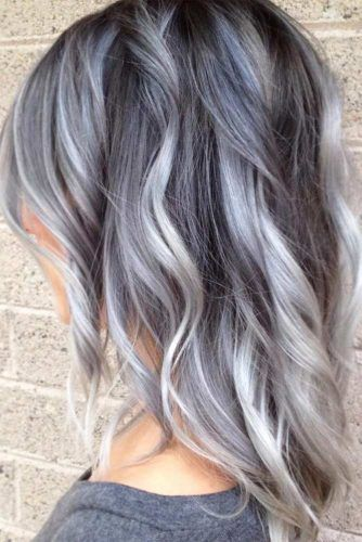 Grey Colored Hair Highlights Picture1