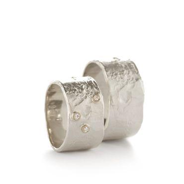 Brede trouwringen in zilver | Wim Meeussen &CTRA Zilveren Juwelen Antwerpen