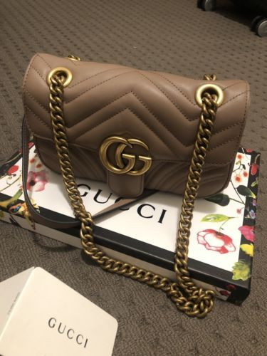 55a79647d31bdb Details about gucci gg marmont matelasse Cross-body Small Shoulder ...