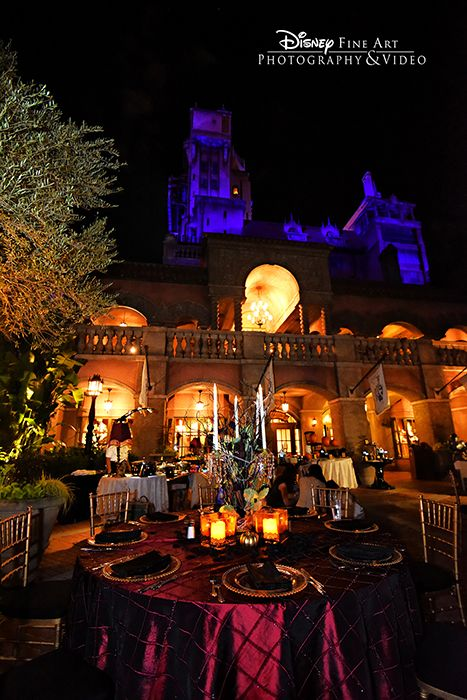 Delightfully spooky wedding reception at The Tower of Terror in Disney's Hollywood Studios