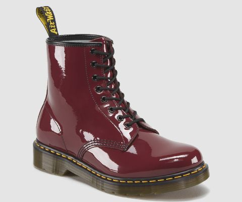Patent Leather Oxblood Doc Martens