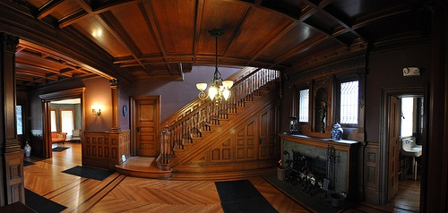 The Madison #Mansion... Dark, #gothic, austere... The Stair Hall #settings