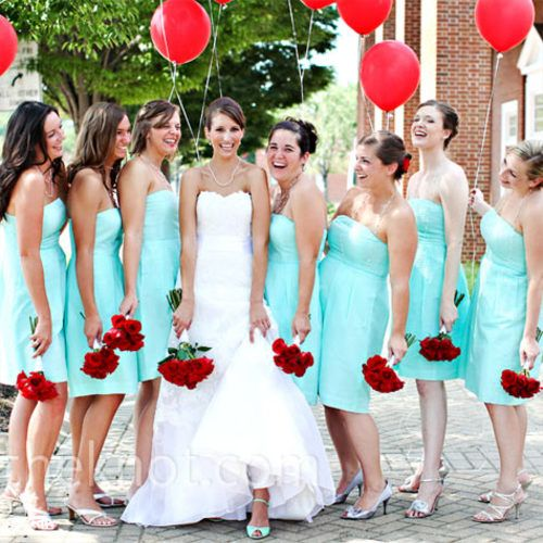 Brides, Bridesmaids & Blooms: Tiffany Blue Bridesmaids Dresses .... Diamonds and Jewels Come to Mind