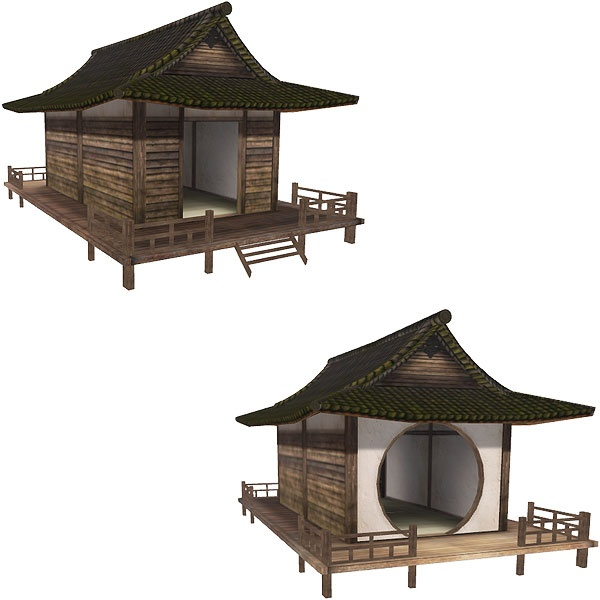 Japanese hut - Zacca ( virtualvagabond.com/free-japanese-wooden-hut/, 2011 )