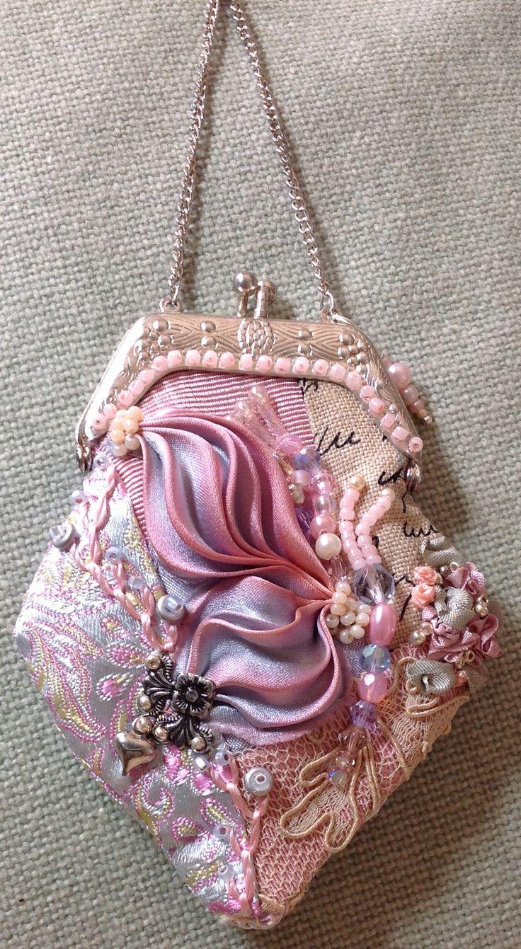 Cq Shibori purse pendant