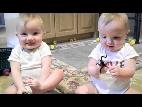 twin boys hear their daddy sneeze and try to copy the sound. SOOOOO CUTEEE!