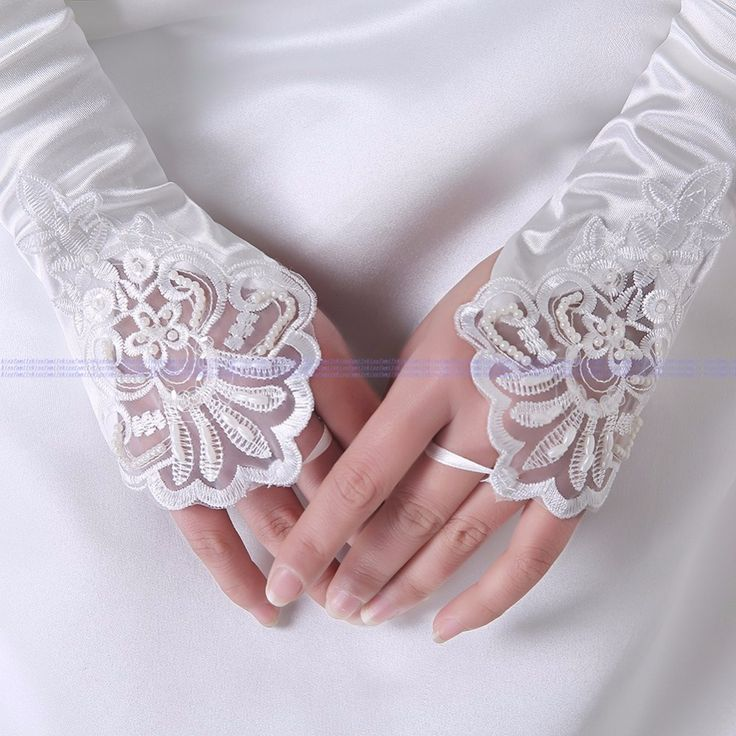 2016 Real Picture Fingerless Beaded White Long Bridal Gloves Women Wedding Accessories Luva Noiva Renda Guanti Da Sposa X07012