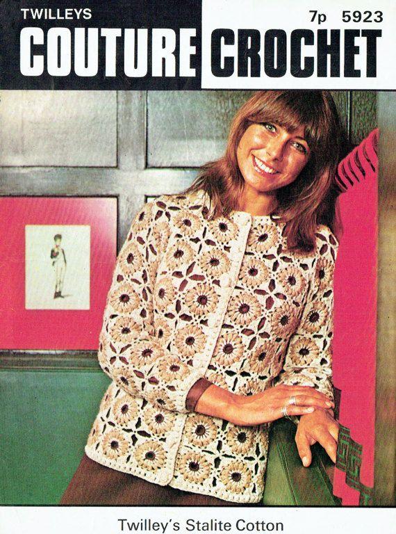 PDF Vintage 1970s Womens Ladies  Crochet Pattern Twilleys 5923