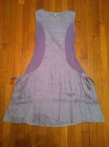 Matilda Jane MJC Allie Dress Women Medium House of Clouds Linen Lavender | eBay