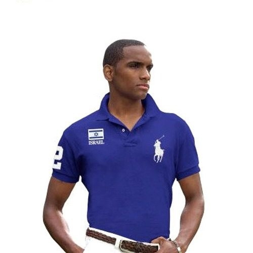 Camiseta Polo Ralph Lauren - Big Pony - Azul - Israel Xg @@ - R$ 68,00 no MercadoLivre
