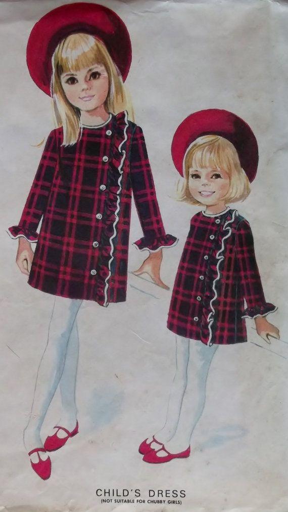 Helen Lee Girls Dress McCalls 7929 Vintage Pattern by DotisSpot