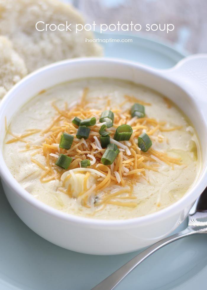 Crock pot potato soup ...easy and delicious!